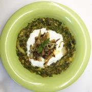 berenjenas a la iraní con yogur y menta